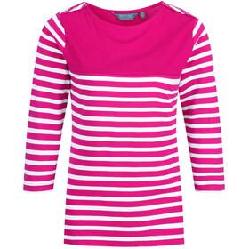 Regatta Pandara Naiset Pitkähihainen paita , vaaleanpunainen/valkoinen